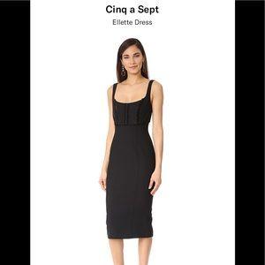 Cinq a Sept Ellette dress black size 2